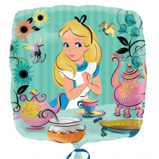 Alice in Wonderland Foil Helium Balloon